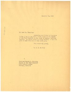 Thumbnail of Letter from W. E. B. Du Bois to the Church of the Good Shepherd