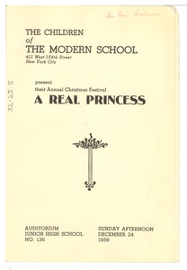 Thumbnail of A Real Princess playbill