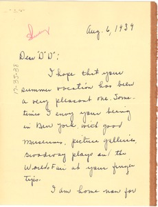 Thumbnail of Letter from Henrietta Shivery to W. E. B. Du Bois