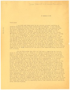 Thumbnail of Letter from W. E. B. Du Bois to the Maurice and Laura Falk Foundation
