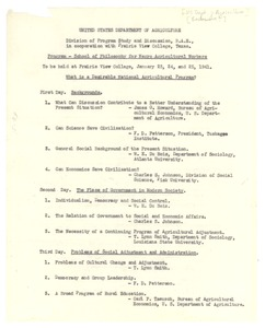 Thumbnail of School of Philosophy for Negro Agricultural Workers program