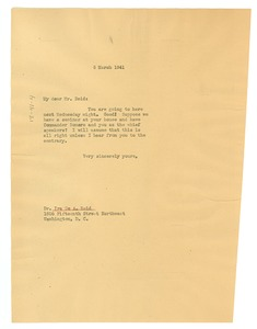 Thumbnail of Letter from W. E. B. Du Bois to Ira de Augustine Reid