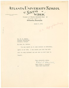 Thumbnail of Letter from Ethel H. Maxwell to W. E. B. Du Bois