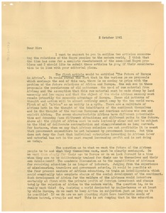Thumbnail of Letter from W. E. B. Du Bois to Edward Weeks
