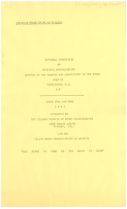 Thumbnail of Chicago Council of Negro Organizations program