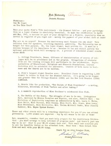 Thumbnail of Letter from Andrew J. Allison to Fisk University alumni