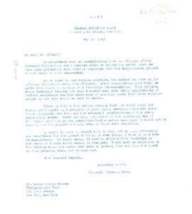 Thumbnail of Letter from General Education Board to Phelps-Stokes Fund