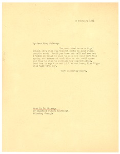 Thumbnail of Letter from W. E. B. Du Bois to L. D. Shivery