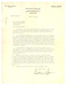 Thumbnail of Letter from Tillotson College to W. E. B. Du Bois