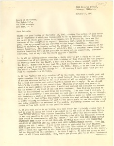 Thumbnail of Letter from Archie L. Weaver to N.A.A.C.P. Board of Directors