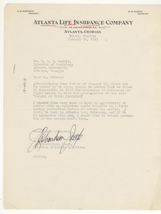 Letter from J. Richardson Jones to W. E. B. Du Bois