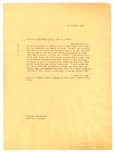 Thumbnail of Memo from W. E. B. Du Bois to Rufus Clement and Ira De A. Reid