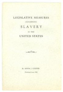 Thumbnail of Legislative measures concerning slavery in the United States