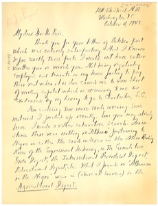 Thumbnail of Letter from A. C. Logan to W. E. B. Du Bois