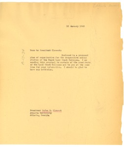 Thumbnail of Memo from W. E. B. Du Bois to Rufus E. Clement