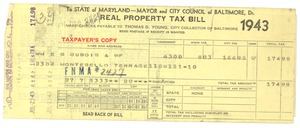 Thumbnail of Maryland state real property tax bill