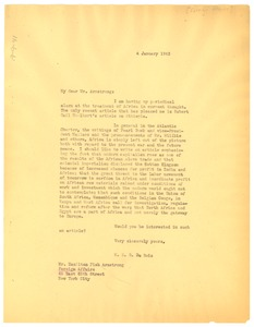 Thumbnail of Letter from W. E. B. Du Bois to Foreign Affairs