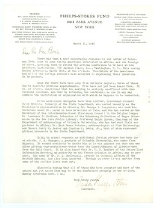 Thumbnail of Circular letter from Organizing Committee for an International Conference on Africa to W. E. B. Du Bois