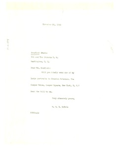Thumbnail of Letter from W. E. B. Du Bois to the Scurlock Studio