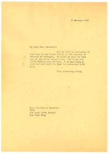 Thumbnail of Letter from Irene Diggs to Young Men's Christian Association of New York