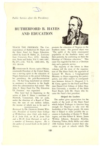 Thumbnail of Rutherford B. Hayes and education