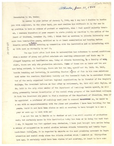 Thumbnail of Memo from W. E. B. Du Bois to W. R. Banks