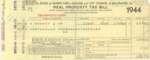 Thumbnail of Maryland state property tax bill