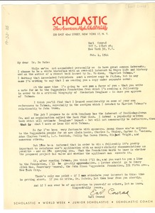 Thumbnail of Letter from Earl Conrad to W. E. B. Du Bois
