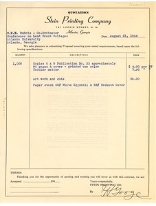 Thumbnail of Contract between Stein Printing Company and W. E. B. Du Bois