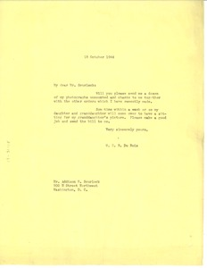 Thumbnail of Letter from W. E. B. Du Bois to Scurlock Studio