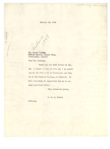 Thumbnail of Letter from W. E. B. Du Bois to Southern Negro Youth Congress