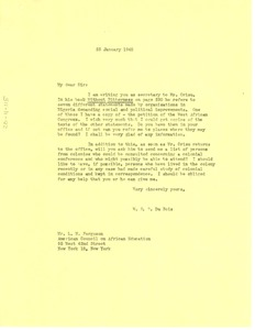 Thumbnail of Letter from W. E. B. Du Bois to L. M. Ferguson