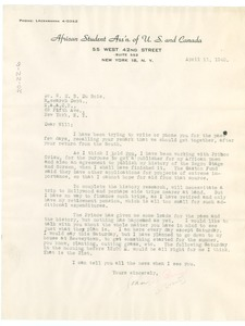 Thumbnail of Letter from John S. Brown, Jr. to W. E. B. Du Bois