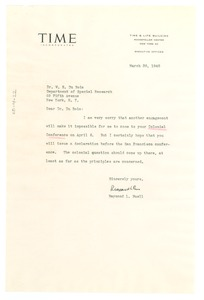 Thumbnail of Letter from Raymond L. Buell to W. E. B. Du Bois