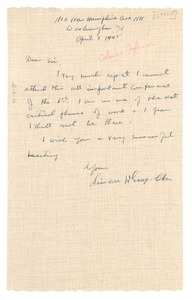 Thumbnail of Letter from W. George Coker to W. E. B. Du Bois