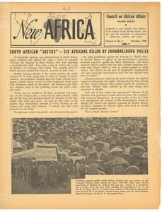 Thumbnail of New Africa volume 4, number 10