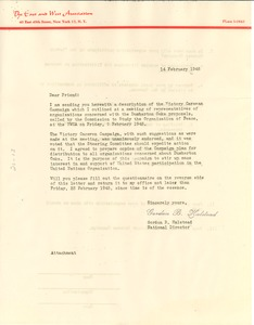 Thumbnail of Circular letter from East and West Association