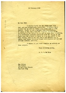 Thumbnail of Letter from W. E. B. Du Bois to New Yorker