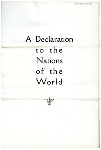 Thumbnail of Declaration to the Nations of the World