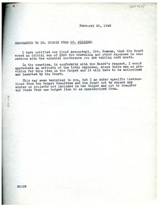 Thumbnail of Memorandum from Roy Wilkins to W. E. B. Du Bois