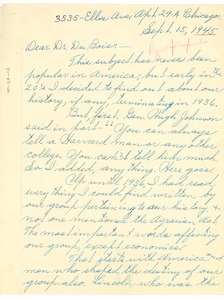 Thumbnail of Letter from Clarence W. Scott to W. E. B. Du Bois