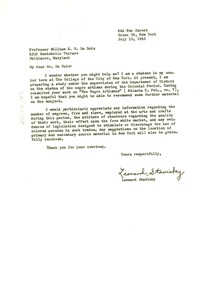 Thumbnail of Letter from Leonard Stavisky to W. E. B. Du Bois