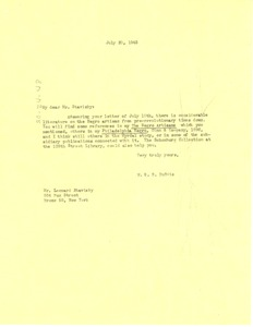 Thumbnail of Letter from W. E. B. Du Bois to Leonard Stavisky