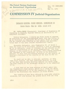 Thumbnail of Verbatim Minutes of the Judicial Organization's First Meeting
