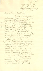 Thumbnail of Letter from Ruth K. Williams to W. E. B. Du Bois