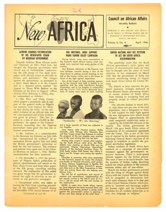 Thumbnail of New Africa volume 5, number 4