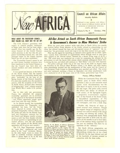 Thumbnail of New Africa volume 5, number 10