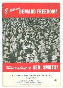 Thumbnail of 8 Million Demand Freedom! What about it, Gen. Smuts?