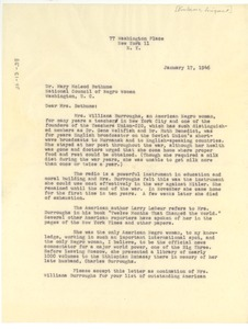 Thumbnail of Letter from Thyra Edwards Gitlin to National Council of Negro Women