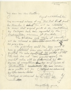 Thumbnail of Letter from Lorenz B. Graham to C. Van Vechten